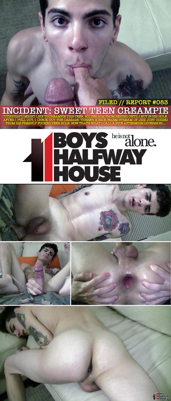 Incident Report #83: Sweet Teen Creampie at Boys Halfway House