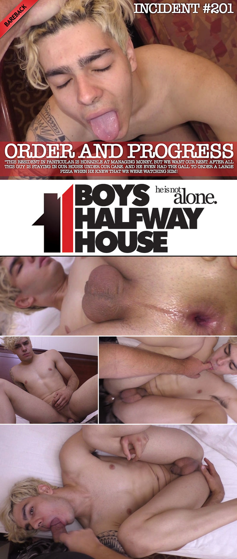 Incident #201: Order and Progress (with Darin Milan) (Bareback) at Boys Halfway House