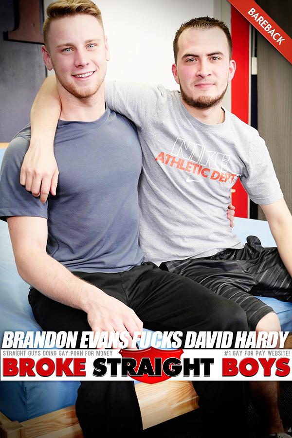 Brandon Evans Fucks David Hardy (Bareback) at Broke Straight Boys