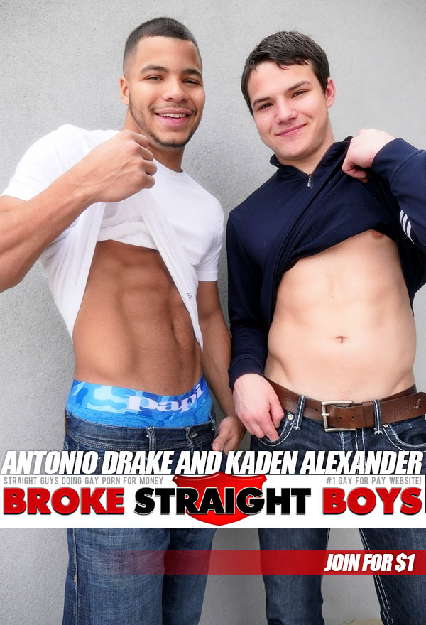 Antonio Drake Fucks Kaden Alexander at Broke Straight Boys