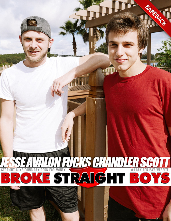 Jesse Avalon Fucks Chandler Scott (Bareback) at Broke Straight Boys