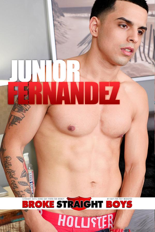 Junior Fernandez (Jerks Off) at Broke Straight Boys