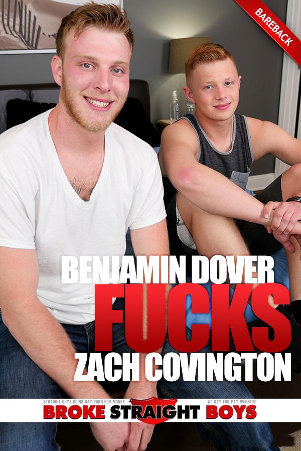 Benjamin Dover Fucks Zach Covington (Bareback) at Broke Straight Boys