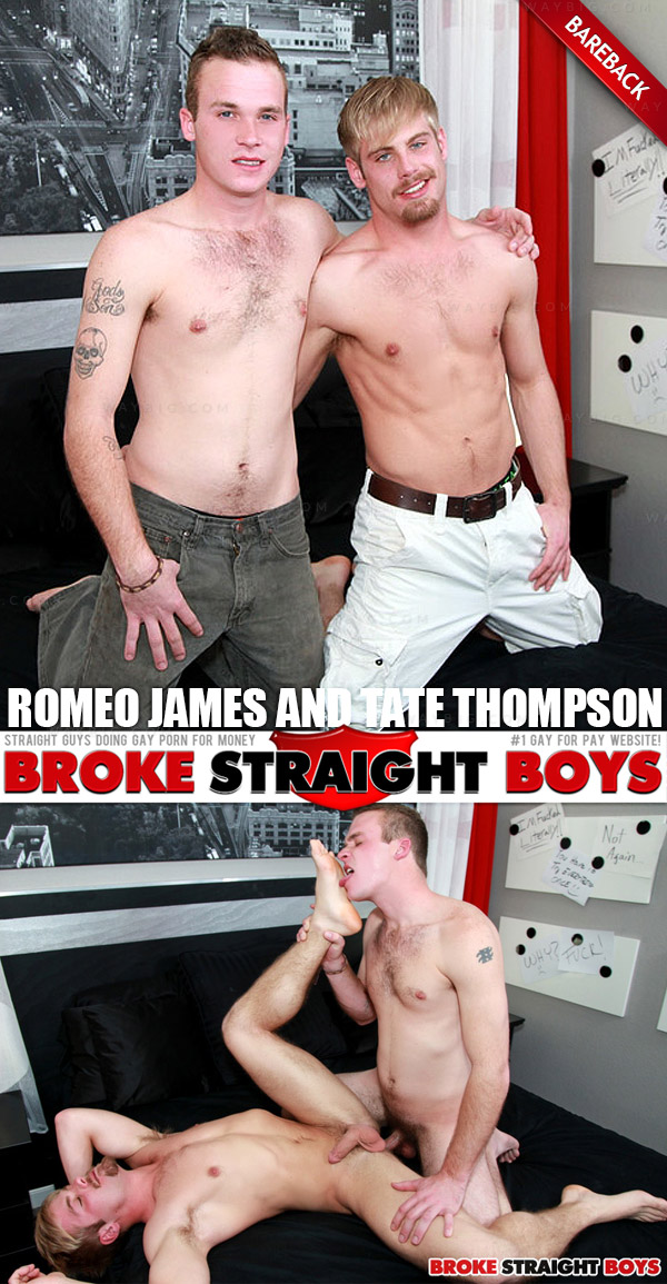 Tate Thompson & Romeo James (Flip Fuck Raw) at Broke Straight Boys