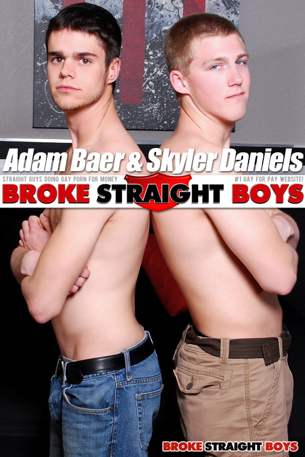Adam Baer & Skyler Daniels (Bareback) at Broke Straight Boys
