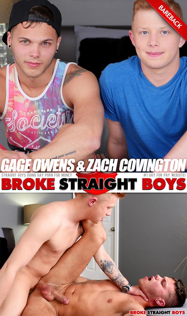 Gage Owens & Zach Covington (Bareback Flip-Fuck) at Broke Straight Boys