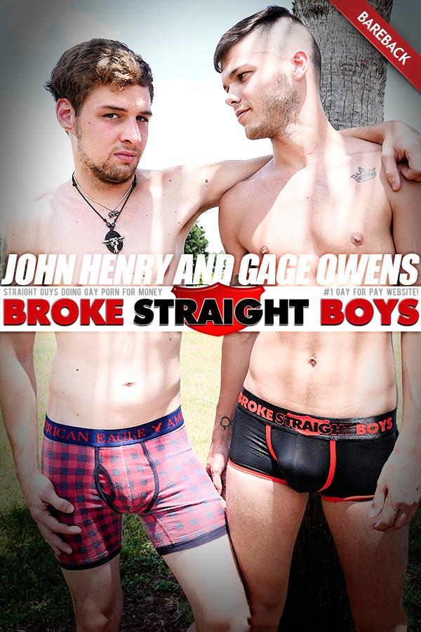 John Henry Fucks Gage Owens (Bareback) at Broke Straight Boys
