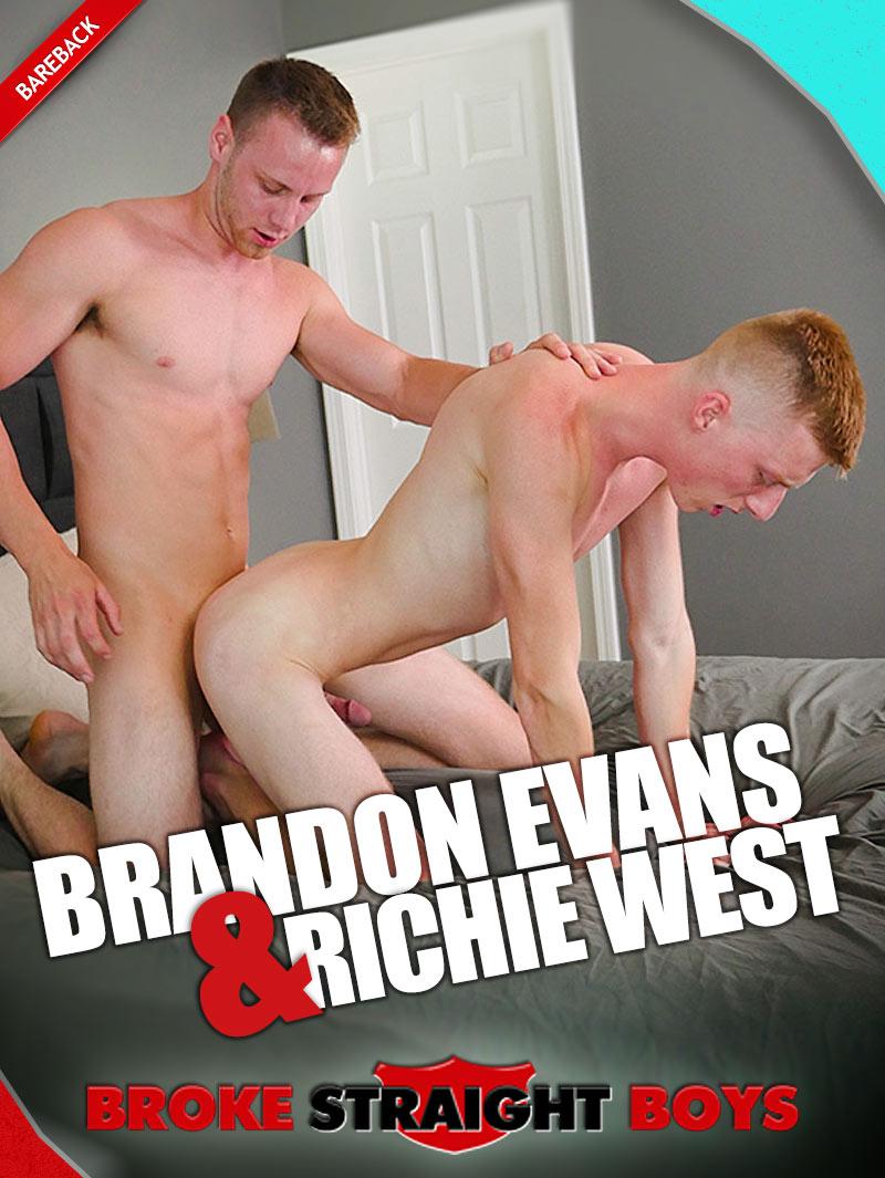 Brandons Evans Fucks Richie West (Bareback) at Broke Straight Boys