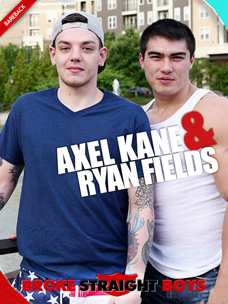 Axel Kane Fucks Ryan Fields (Bareback) at Broke Straight Boys