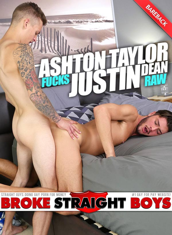 Ashton Taylor Fucks Justin Dean (Bareback) at Broke Straight Boys