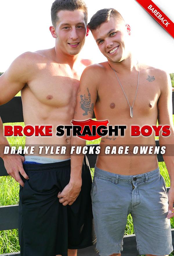 Drake Tyler Fucks Gage Owens (Bareback) at Broke Straight Boys