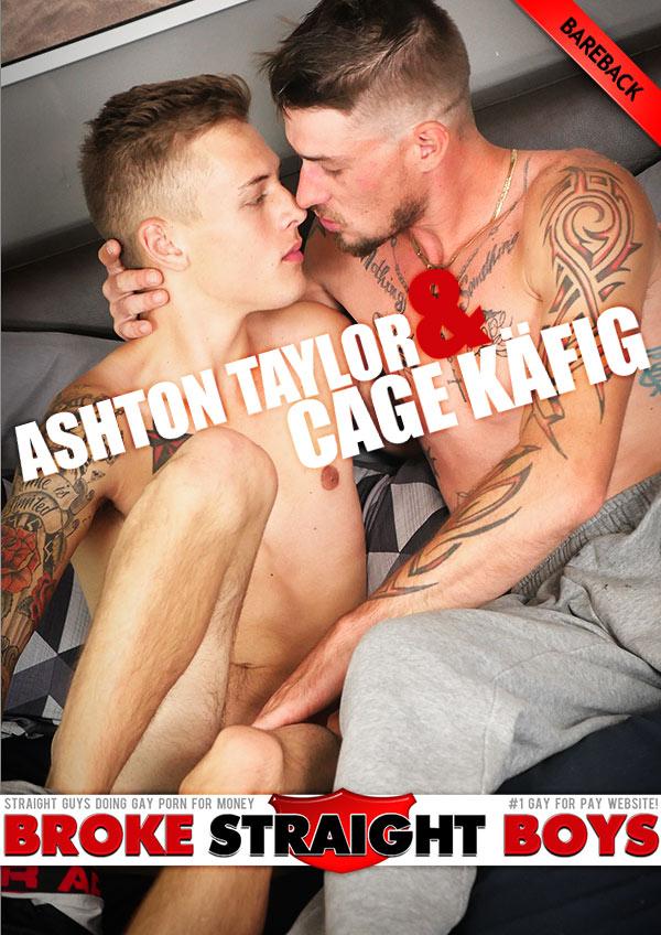 Ashton Taylor Fucks Cage Käfig (Bareback) at Broke Straight Boys