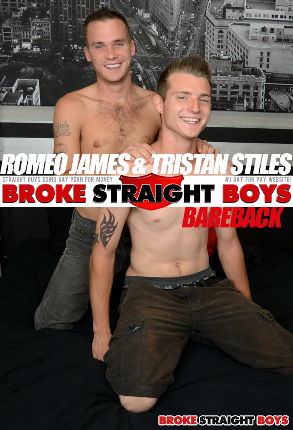 Romeo James & Tristan Stiles (Bareback) at Broke Straight Boys