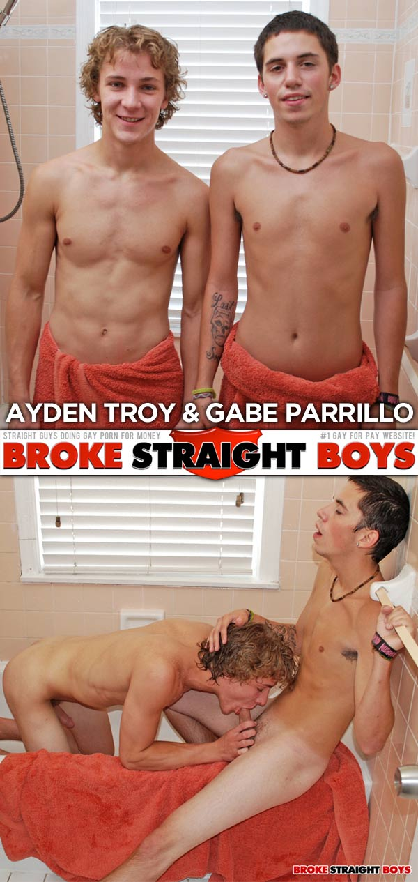 Ayden Troy & Gabe Parrillo at Broke Straight Boys