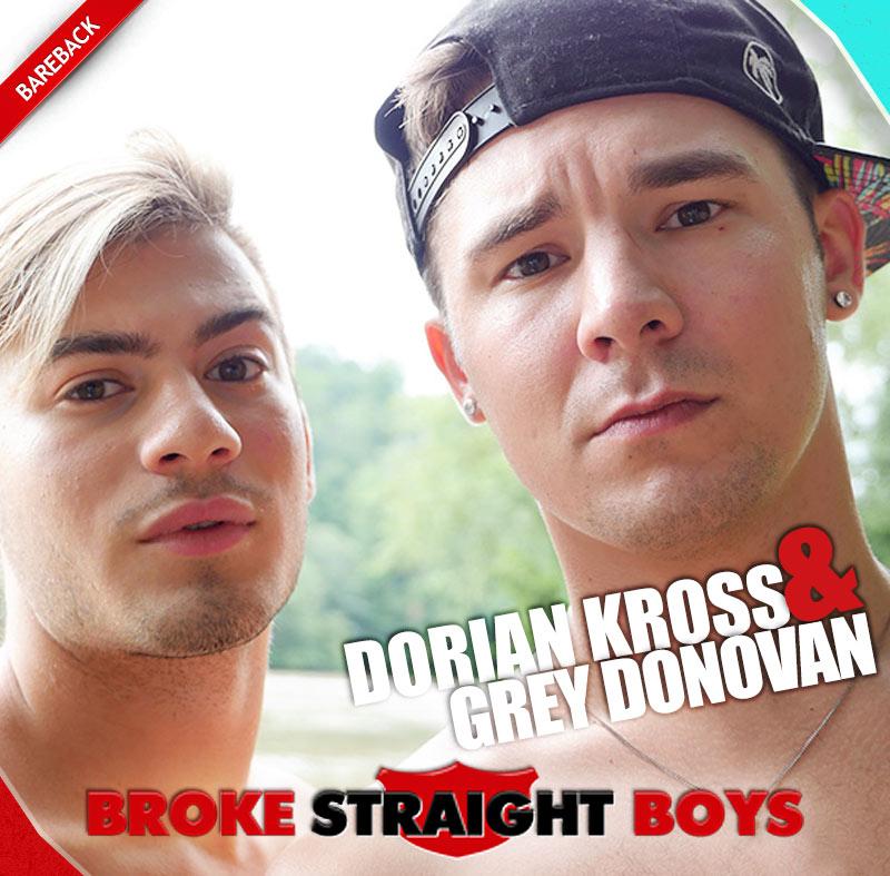 Dorian Kross Dominates Grey Donovan (Bareback) at Broke Straight Boys