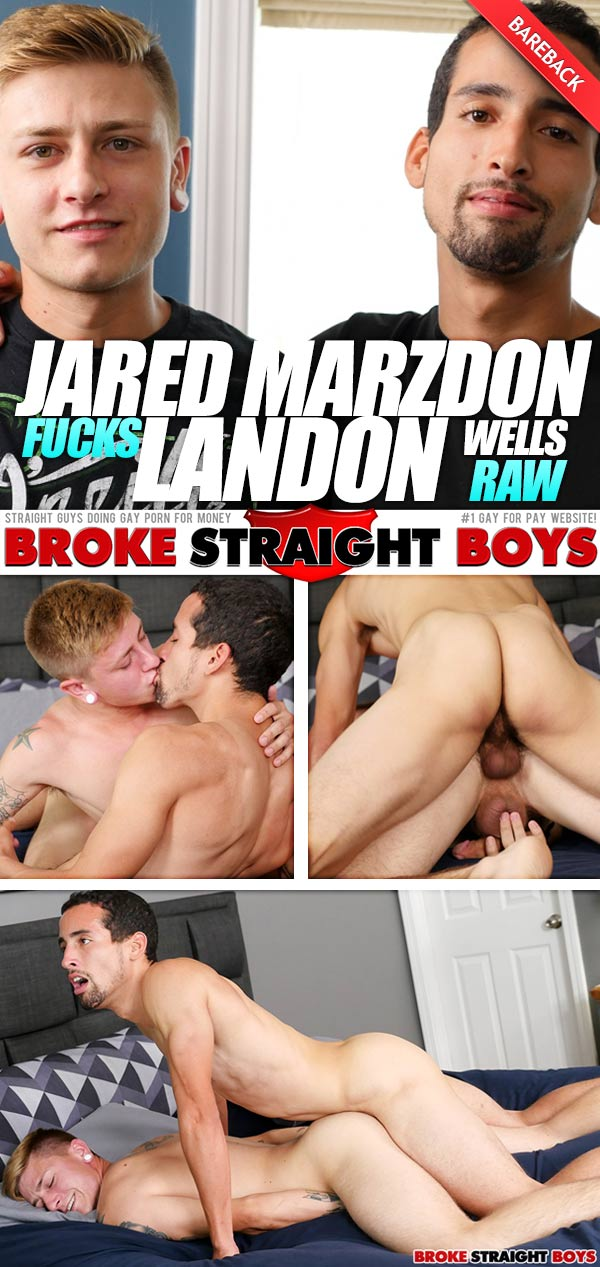 Jared Marzdon Fucks Landon Wells (Bareback) at Broke Straight Boys