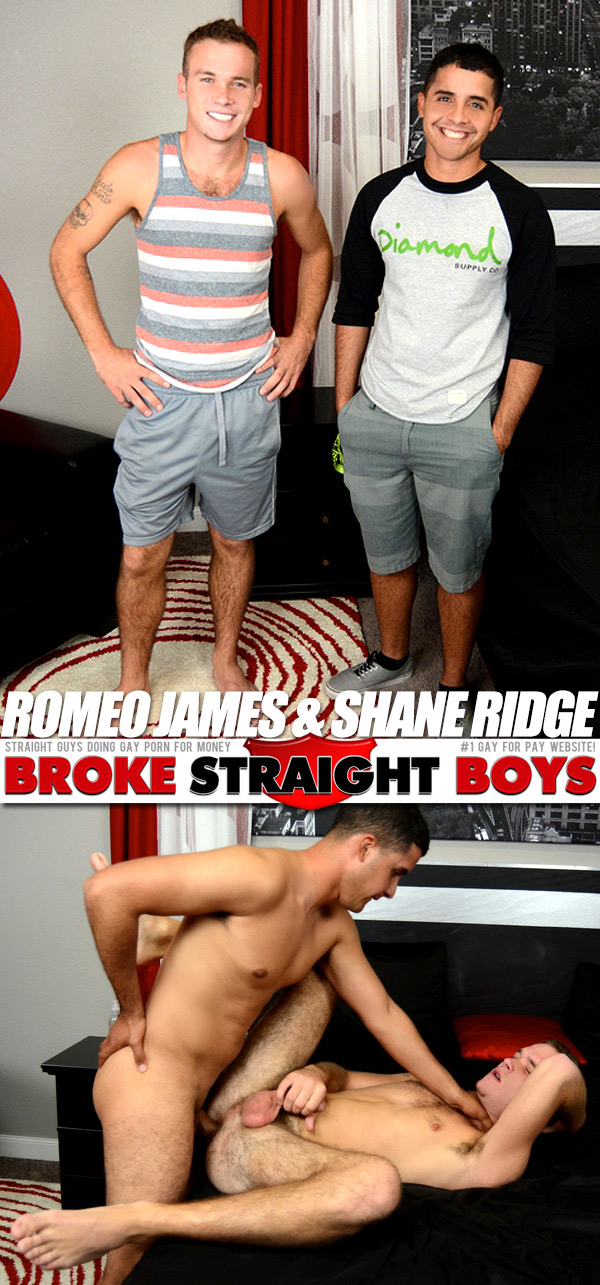 Shane Ridge Fucks Romeo James (Bareback) at Broke Straight Boys