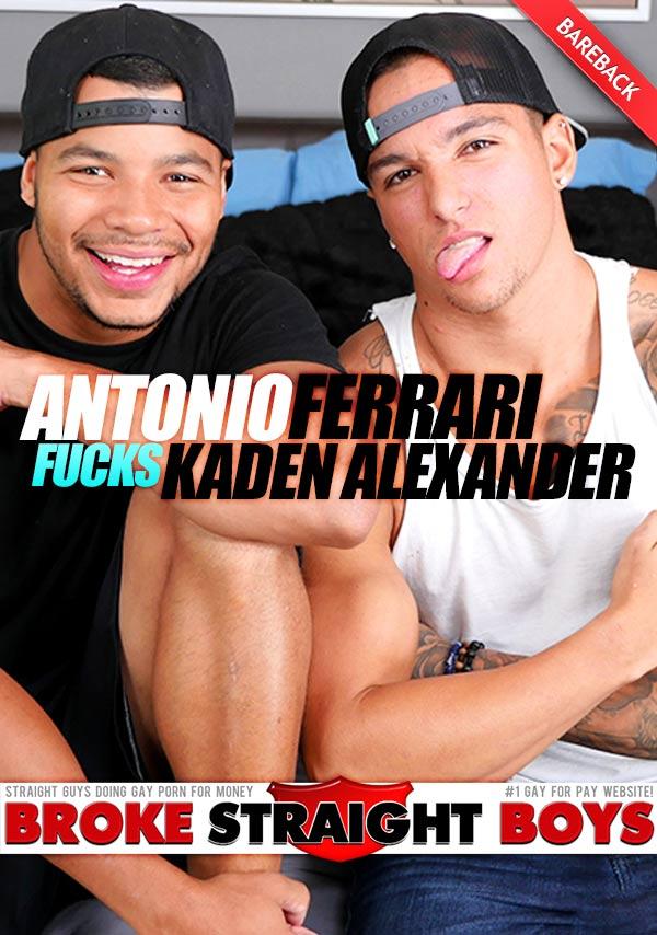 Antonio Ferrari Fucks Kaden Alexander (Bareback) at Broke Straight Boys