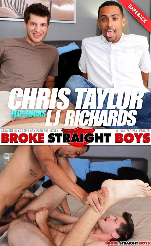 Chris Taylor & LJ Richards (Bareback Flip-Fuck) at Broke Straight Boys