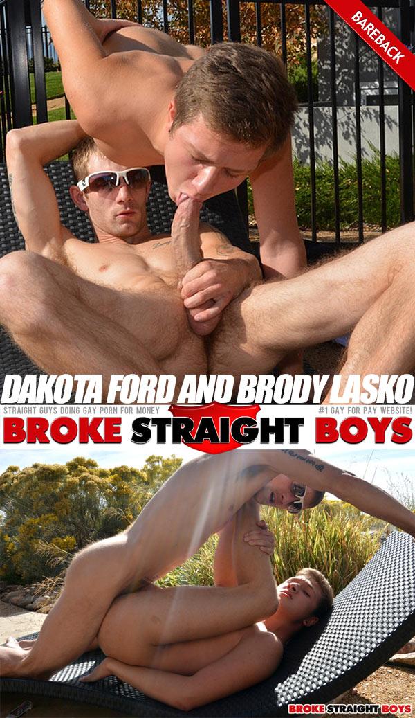 Dakota Ford & Brody Lasko (Bareback) at Broke Straight Boys