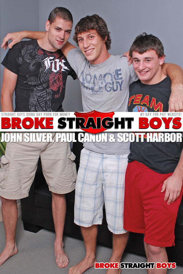 Paul Canon, Scott Harbor & John Silver at Broke Straight Boys