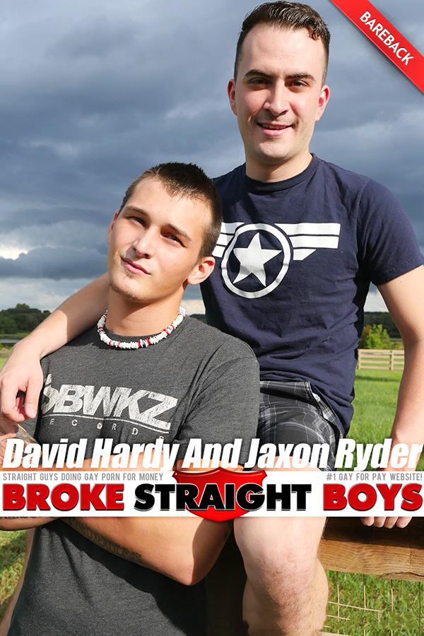 David Hardy Flip-Fucks Jaxon Ryder (Bareback) at Broke Straight Boys