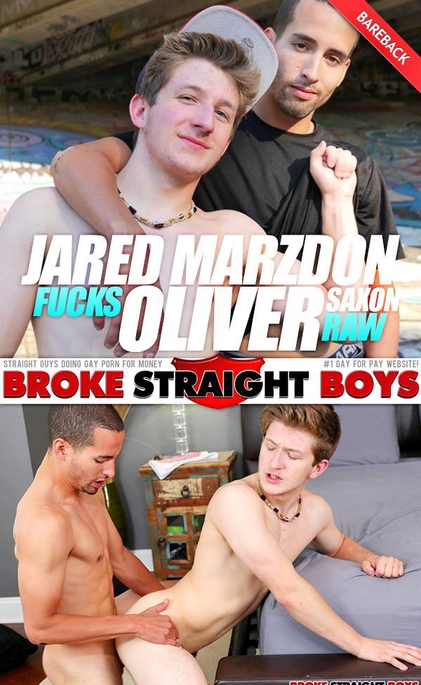Jared Marzdon Fucks Oliver Saxon (Bareback) at Broke Straight Boys