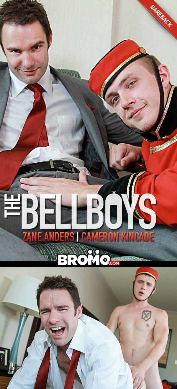 The Bell Boys (Zane Anders Fucks Cameron Kincade) (Bareback) at Bromo