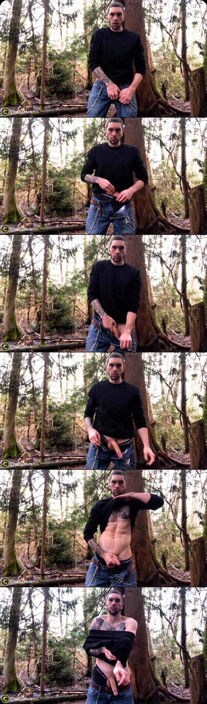 Jake Hart Outdoor Self-Suck Peep at ChaosMen