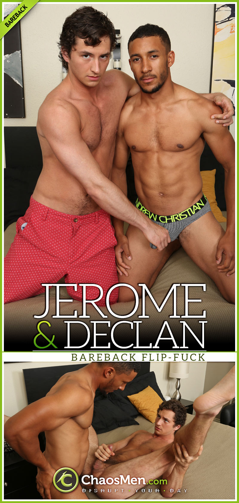 Declan & Jerome (Bareback Flip-Fuck) at ChaosMen