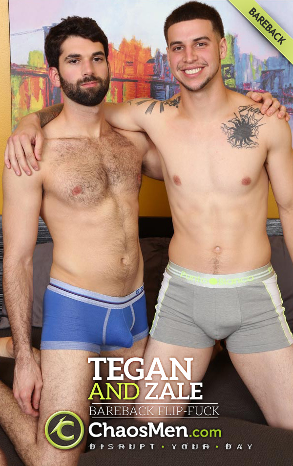 Tegan and Straight Boy Zale (Bareback Flip-Fuck & Double-Creampie) at ChaosMen