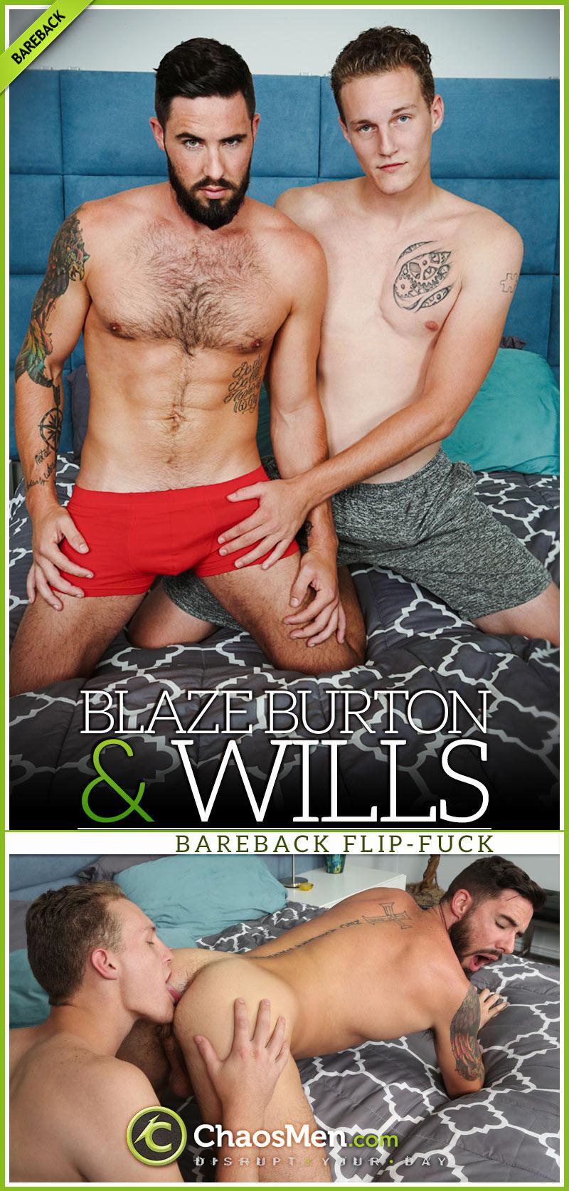Blaze Burton and Wills (Bareback Flip-Fuck)