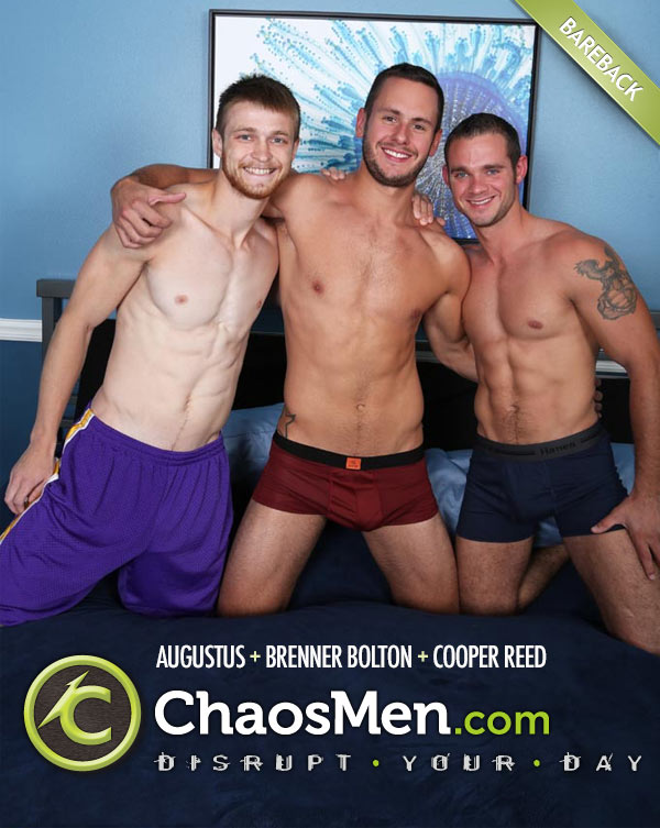 Augustus, Brenner & Cooper (Bareback Tag Team) at ChaosMen
