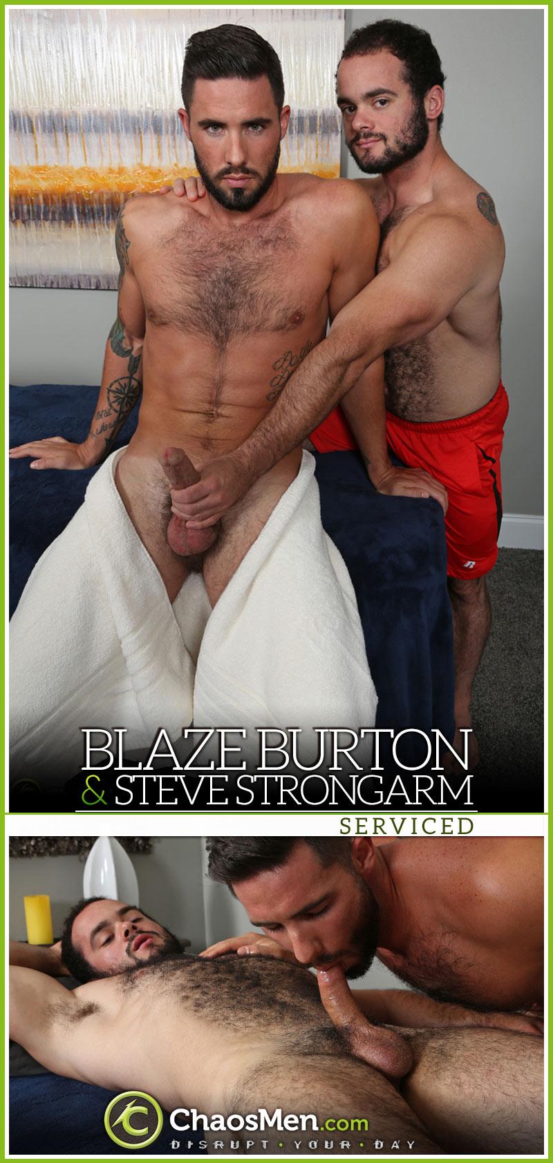 Blaze Burton & Steve Strongarm 'Serviced' at ChaosMen