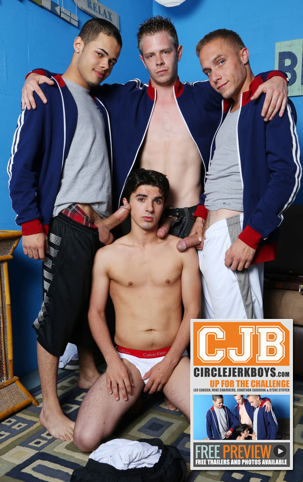 Up For The Challenge (Leo Carden, Mike Chambers, Jonathon Cardona & Steve Stiffer) at CircleJerkBoys