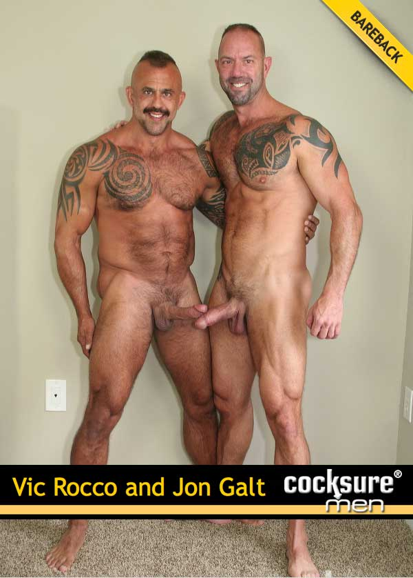 Vic Rocco & Jon Galt (Bareback) at CocksureMen.com