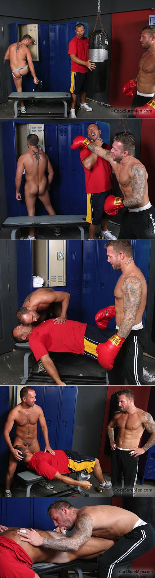 Bo, Dane & Brock (Locker Room Knockout) at CocksureMen.com