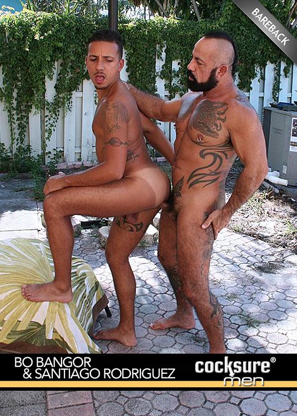 Bo Bangor & Santiago Rodriguez (Bareback) at CocksureMen.com