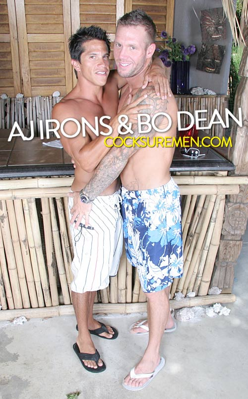 Bo Dean & AJ Irons (Ass Resort) at CocksureMen.com