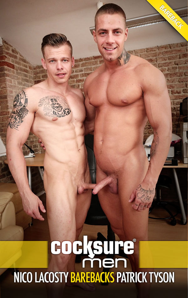 Nico Lacosty Barebacks Patrick Tyson at CocksureMen.com