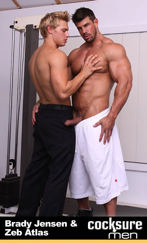 Zeb Atlas & Brady Jensen (Sales Job) at CocksureMen.com