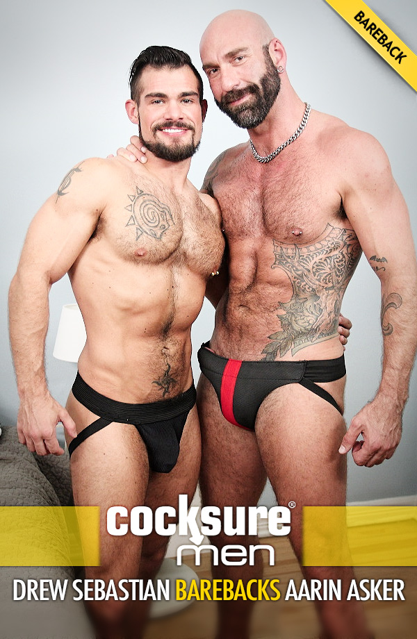 Drew Sebastian Barebacks Aarin Asker at CocksureMen.com