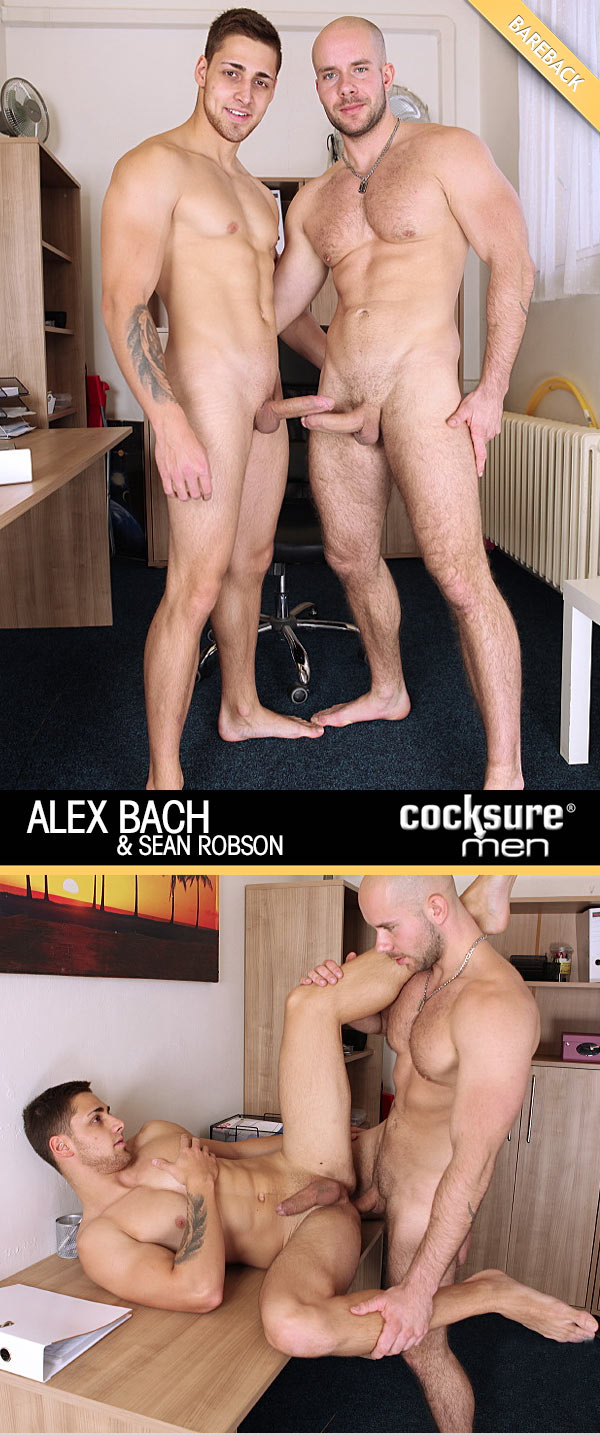 Alex Bach Barebacks Sean Robson at CocksureMen.com