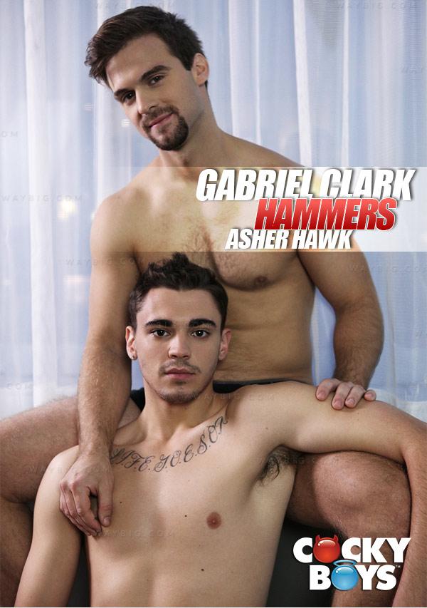Gabriel Clark Hammers Asher Hawk at CockyBoys.com