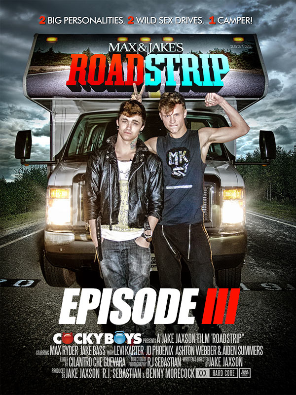 Max & Jake's ROADSTRIP: Episode III (THE BANGOVER featuring JD Phoenix & Aiden Summers) at CockyBoys.com