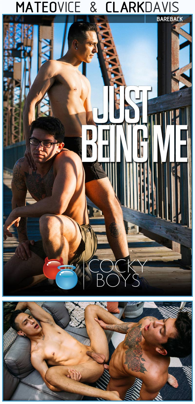 Just Being Me (Clark Davis and Mateo Vice Flip-Fuck) at CockyBoys.com