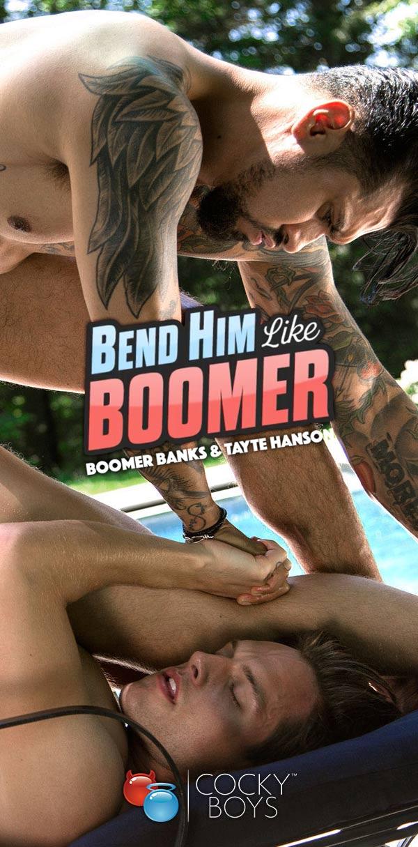 Bend Him Over Like Boomer (Boomer Banks & Tayte Hanson) at CockyBoys.com