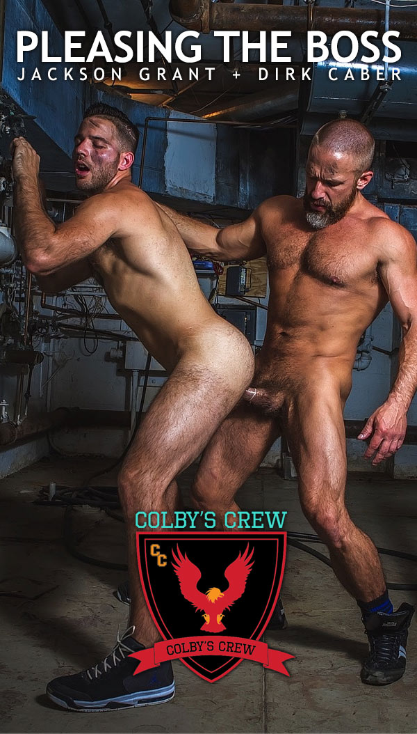 Pleasing The Boss (Dirk Caber Fucks Jackson Grant) at Colby's Crew