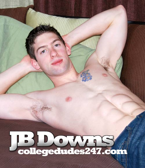 JB Downs Busts A Nut at CollegeDudes247