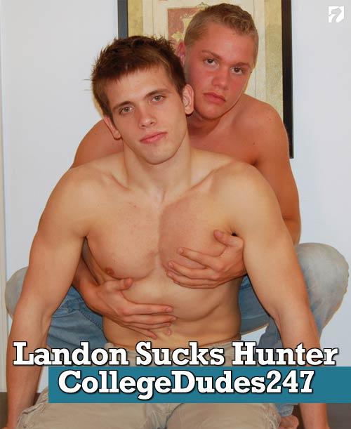 Landon Sucks Hunter at CollegeDudes247